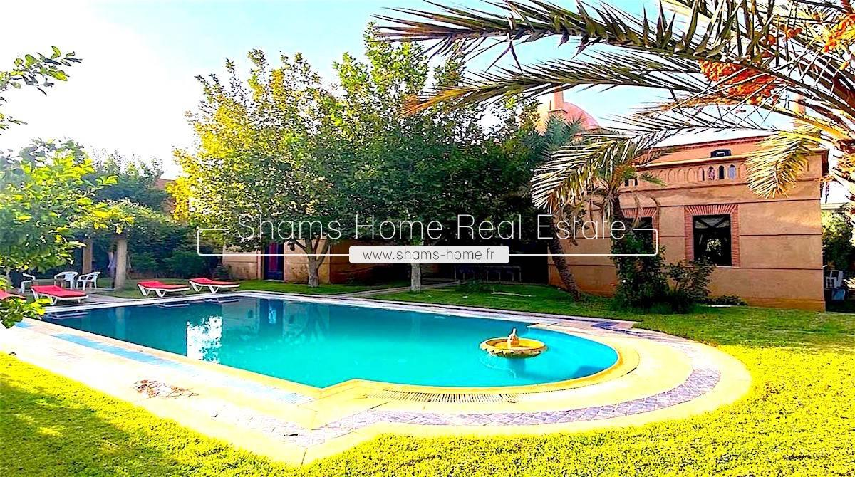 Atypical Villa for Long Term Rental Amelkis Golf in Marrakech