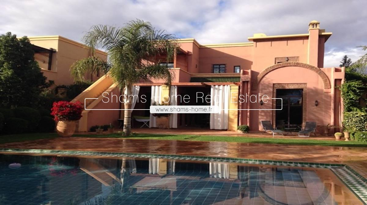 Atypical Villa For Long Term Rental on Golf Marrakech