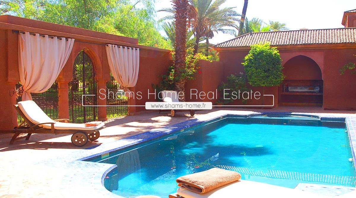 Atypical Villa For Sale in Palmeraie Marrakech
