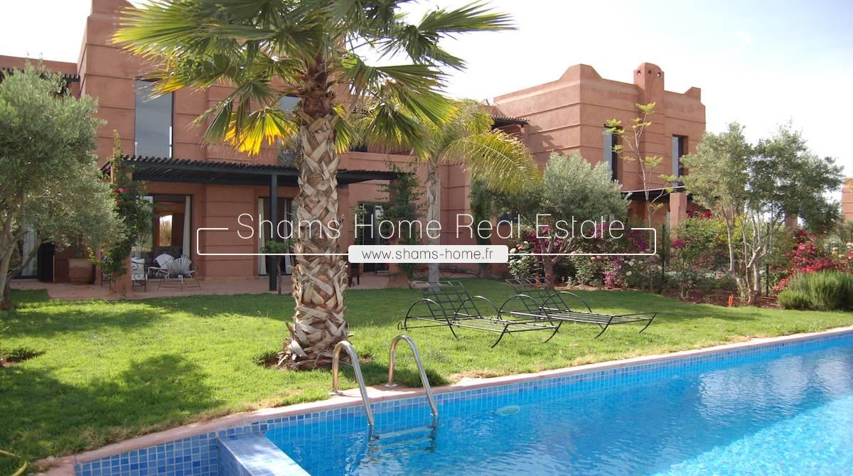 Long Term Rental Front Golf Villa Road to Ourika Marrakech
