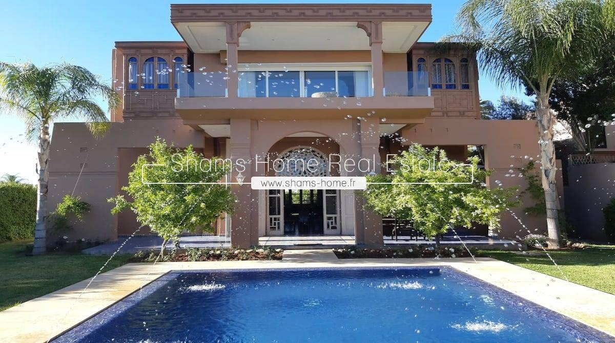 Splendid Villa For Long Term Rental Marrakech Amelkis
