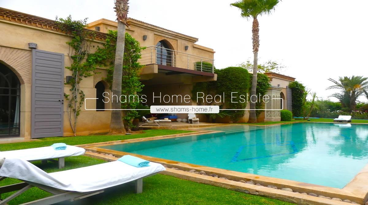 Sumptuous Villa for Sale Amelkis Golf Marrakech